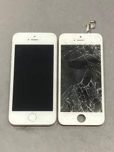 iPhone SE(第一世代) ガラス割れ 桑名市