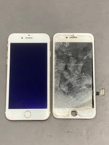 iPhone 7 ガラス割れ