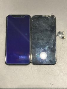 iPhone Xs ガラス割れ 四日市市